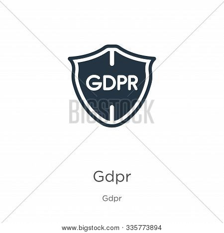 Gdpr Icon Vector. Trendy Flat Gdpr Icon From Gdpr Collection Isolated On White Background. Vector Il