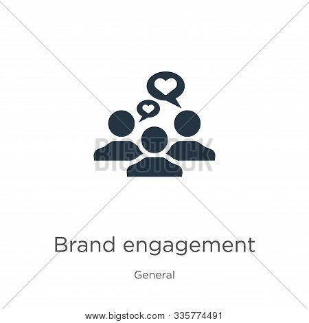 Brand Engagement Icon Vector. Trendy Flat Brand Engagement Icon From General Collection Isolated On
