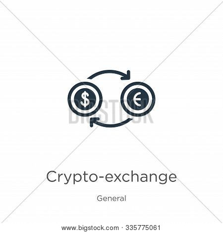 Crypto-exchange Icon Vector. Trendy Flat Crypto-exchange Icon From General Collection Isolated On Wh