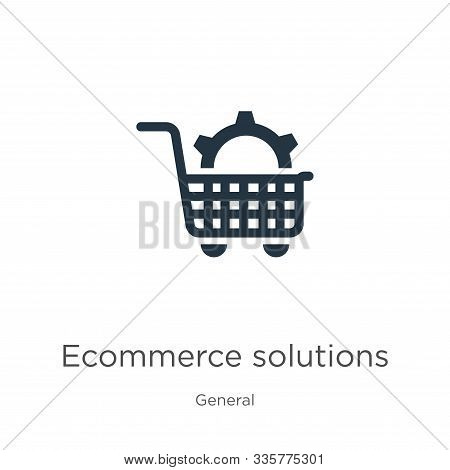 Ecommerce Solutions Icon Vector. Trendy Flat Ecommerce Solutions Icon From General Collection Isolat