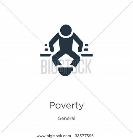 Poverty Icon Vector. Trendy Flat Poverty Icon From General Collection Isolated On White Background.