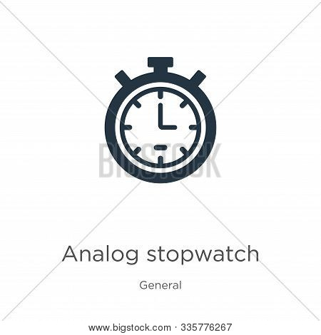 Analog Stopwatch Icon Vector. Trendy Flat Analog Stopwatch Icon From General Collection Isolated On