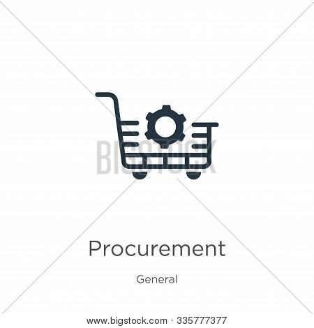 Procurement Icon Vector. Trendy Flat Procurement Icon From General Collection Isolated On White Back