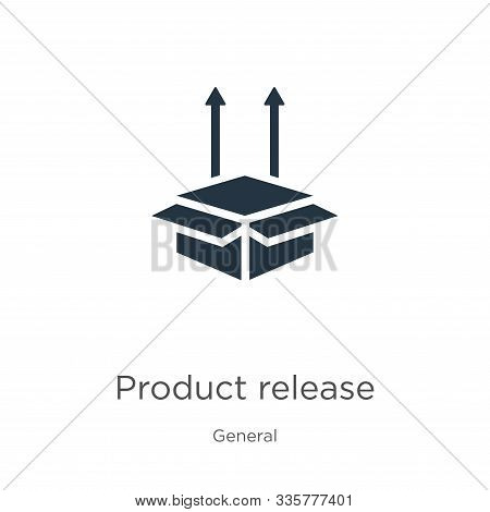 Product Release Icon Vector. Trendy Flat Product Release Icon From General Collection Isolated On Wh