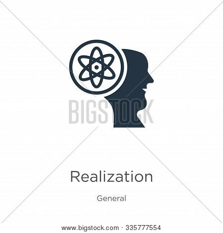 Realization Icon Vector. Trendy Flat Realization Icon From General Collection Isolated On White Back
