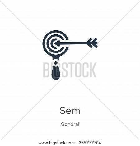Sem Icon Vector. Trendy Flat Sem Icon From General Collection Isolated On White Background. Vector I
