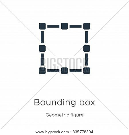 Bounding Box Icon Vector. Trendy Flat Bounding Box Icon From Geometric Figure Collection Isolated On