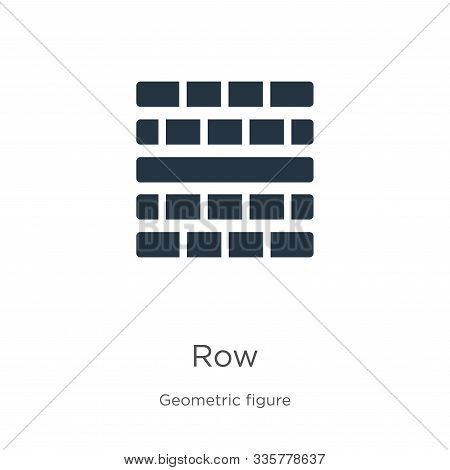 Row Icon Vector. Trendy Flat Row Icon From Geometric Figure Collection Isolated On White Background.