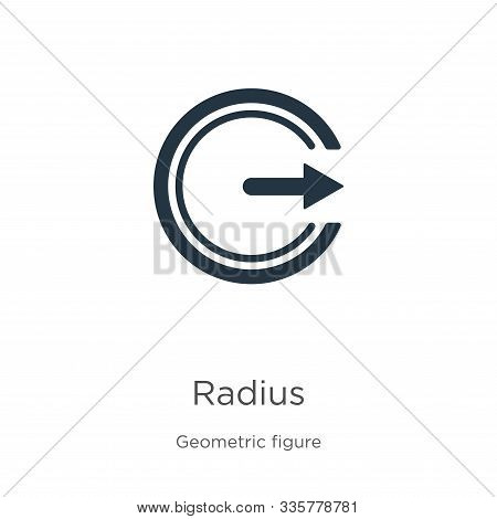 Radius Icon Vector. Trendy Flat Radius Icon From Geometry Collection Isolated On White Background. V