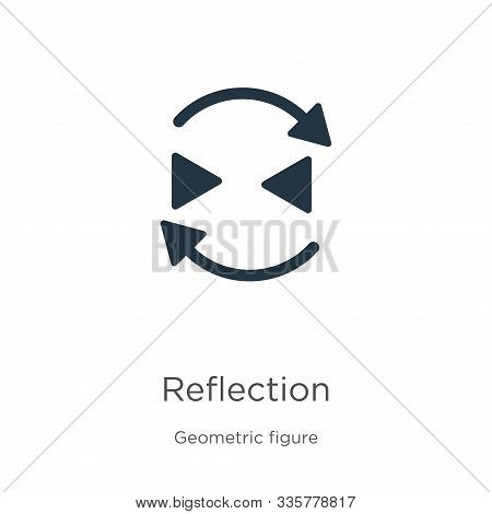 Reflection Icon Vector. Trendy Flat Reflection Icon From Geometry Collection Isolated On White Backg
