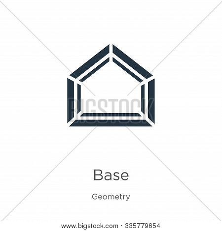 Base Icon Vector. Trendy Flat Base Icon From Geometry Collection Isolated On White Background. Vecto