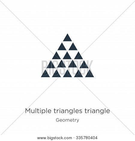 Multiple Triangles Triangle Icon Vector. Trendy Flat Multiple Triangles Triangle Icon From Geometry