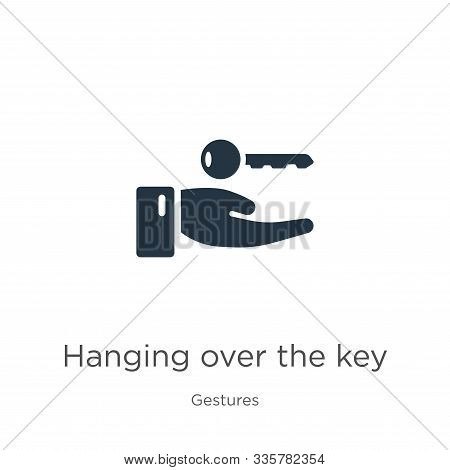 Hanging Over The Key Icon Vector. Trendy Flat Hanging Over The Key Icon From Gestures Collection Iso