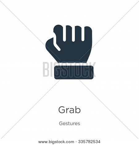 Grab Icon Vector. Trendy Flat Grab Icon From Gestures Collection Isolated On White Background. Vecto