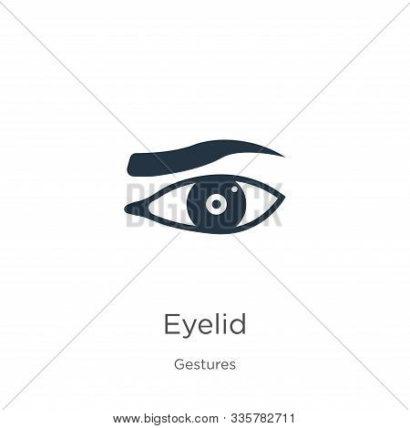Eyelid Icon Vector. Trendy Flat Eyelid Icon From Gestures Collection Isolated On White Background. V