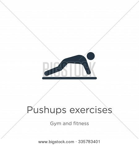 Pushups Exercises Icon Vector. Trendy Flat Pushups Exercises Icon From Gym And Fitness Collection Is