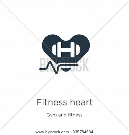 Fitness Heart Icon Vector. Trendy Flat Fitness Heart Icon From Gym And Fitness Collection Isolated O
