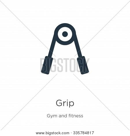 Grip Icon Vector. Trendy Flat Grip Icon From Gym And Fitness Collection Isolated On White Background