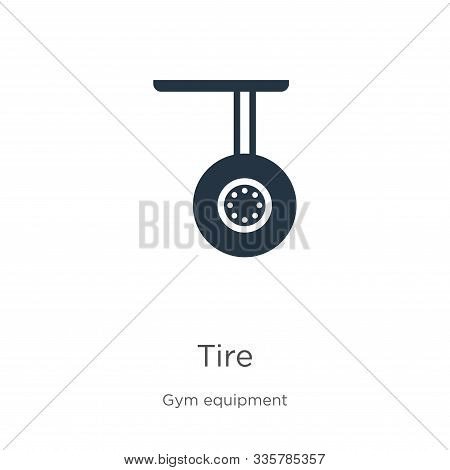 Tire Icon Vector. Trendy Flat Tire Icon From Gym Equipment Collection Isolated On White Background.
