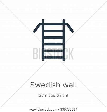 Swedish Wall Icon Vector. Trendy Flat Swedish Wall Icon From Gym And Fitness Collection Isolated On