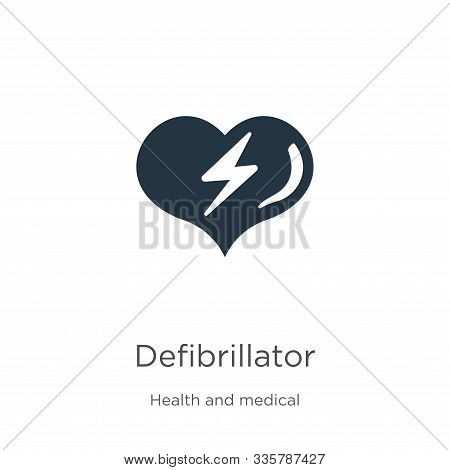 Defibrillator Icon Vector. Trendy Flat Defibrillator Icon From Health And Medical Collection Isolate