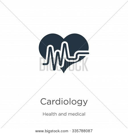 Cardiology Icon Vector. Trendy Flat Cardiology Icon From Health And Medical Collection Isolated On W
