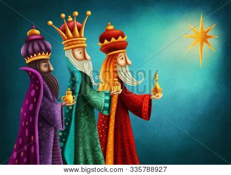 Biblical Magi. Three wise men.