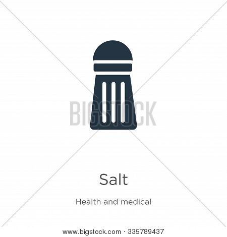 Salt Icon Vector. Trendy Flat Salt Icon From Health Collection Isolated On White Background. Vector