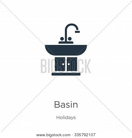 Basin Icon Vector. Trendy Flat Basin Icon From Holidays Collection Isolated On White Background. Vec