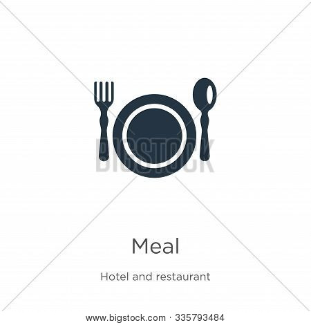 Meal Icon Vector. Trendy Flat Meal Icon From Hotel Collection Isolated On White Background. Vector I