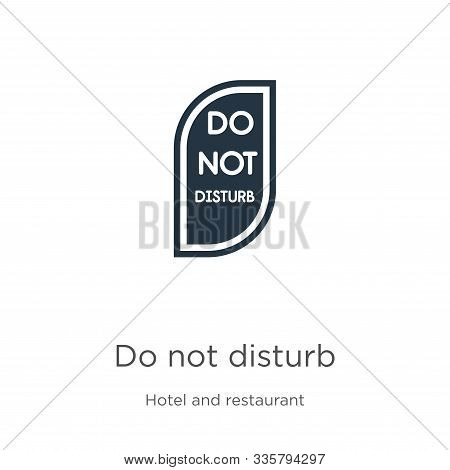 Do Not Disturb Icon Vector. Trendy Flat Do Not Disturb Icon From Hotel Collection Isolated On White