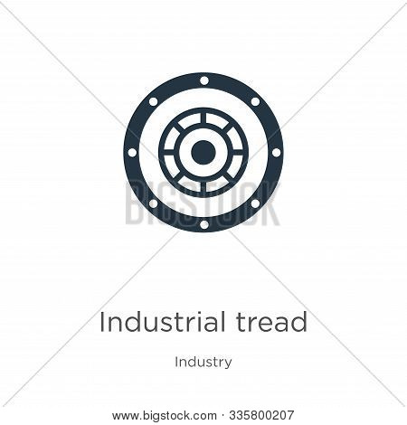 Industrial Tread Icon Vector. Trendy Flat Industrial Tread Icon From Industry Collection Isolated On