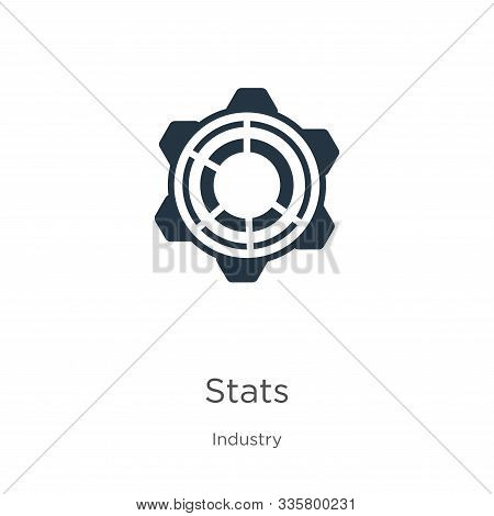 Stats Icon Vector. Trendy Flat Stats Icon From Industry Collection Isolated On White Background. Vec
