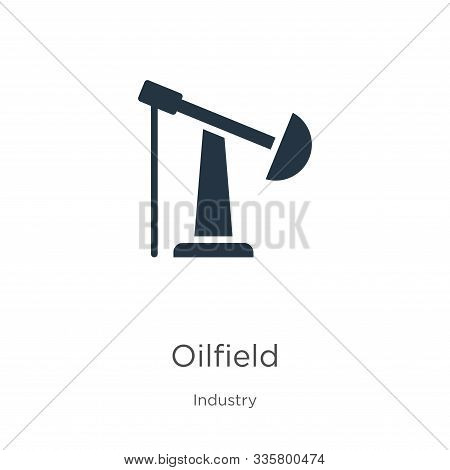 Oilfield Icon Vector. Trendy Flat Oilfield Icon From Industry Collection Isolated On White Backgroun