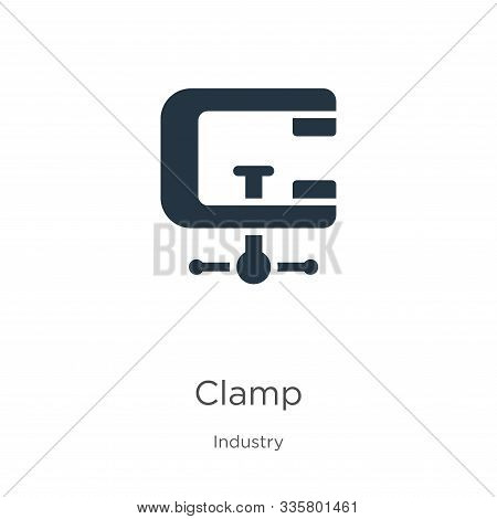 Clamp Icon Vector. Trendy Flat Clamp Icon From Industry Collection Isolated On White Background. Vec