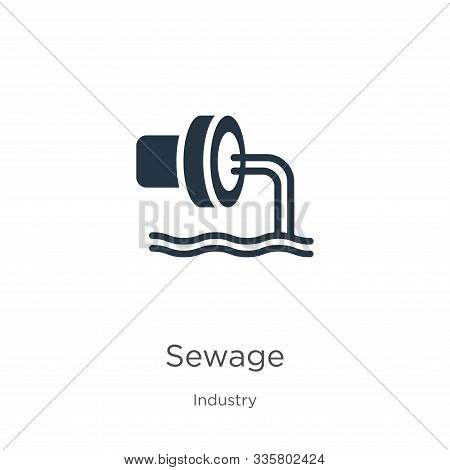 Sewage Icon Vector. Trendy Flat Sewage Icon From Industry Collection Isolated On White Background. V