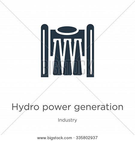 Hydro Power Generation Icon Vector. Trendy Flat Hydro Power Generation Icon From Industry Collection
