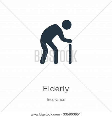 Elderly Icon Vector. Trendy Flat Elderly Icon From Insurance Collection Isolated On White Background