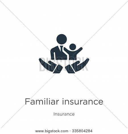 Familiar Insurance Icon Vector. Trendy Flat Familiar Insurance Icon From Insurance Collection Isolat