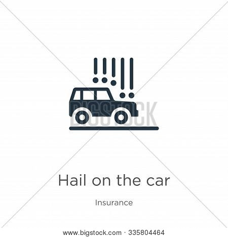 Hail On The Car Icon Vector. Trendy Flat Hail On The Car Icon From Insurance Collection Isolated On