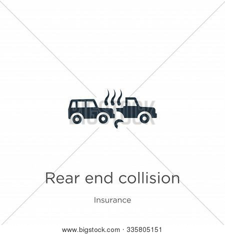 Rear End Collision Icon Vector. Trendy Flat Rear End Collision Icon From Insurance Collection Isolat