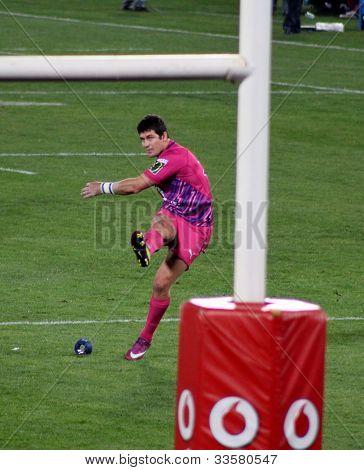 Rugby Morne Steyn Kick Bulls South Africa 2012