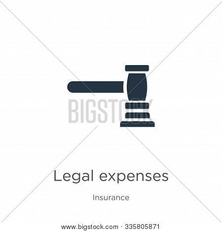 Legal Expenses Icon Vector. Trendy Flat Legal Expenses Icon From Insurance Collection Isolated On Wh