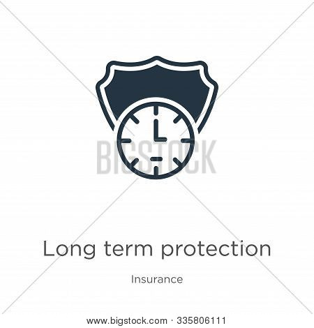Long Term Protection Icon Vector. Trendy Flat Long Term Protection Icon From Insurance Collection Is