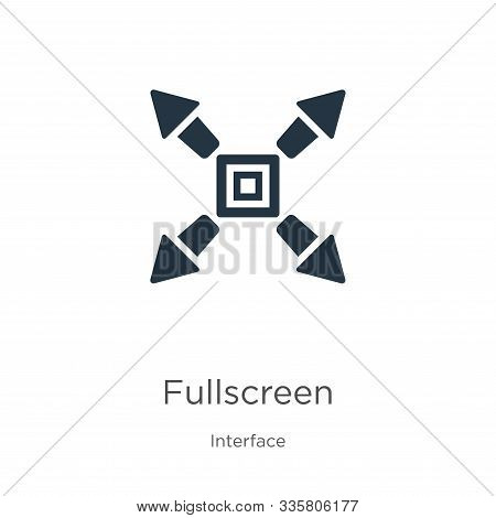 Fullscreen Icon Vector. Trendy Flat Fullscreen Icon From Interface Collection Isolated On White Back
