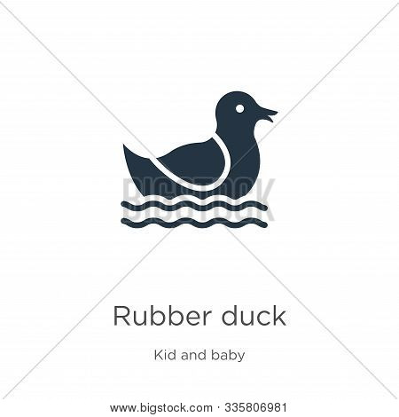 Rubber Duck Icon Vector. Trendy Flat Rubber Duck Icon From Kid And Baby Collection Isolated On White