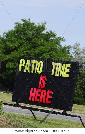 Patio Time Is Here