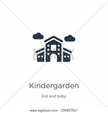 Kindergarden Icon Vector. Trendy Flat Kindergarden Icon From Kid And Baby Collection Isolated On Whi