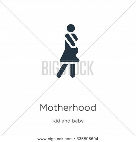 Motherhood Icon Vector. Trendy Flat Motherhood Icon From Kids And Baby Collection Isolated On White
