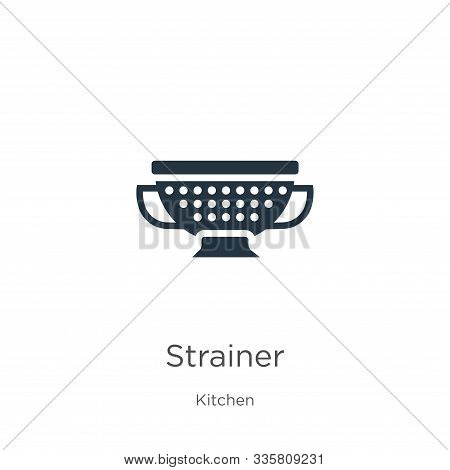 Strainer Icon Vector. Trendy Flat Strainer Icon From Kitchen Collection Isolated On White Background